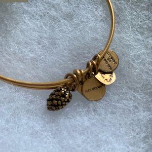 Alex and Ani pine cone  bracelet